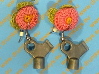 Earrings Drum key